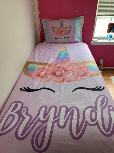Personalized Beloved Unicorn Lash Bedding Set photo review