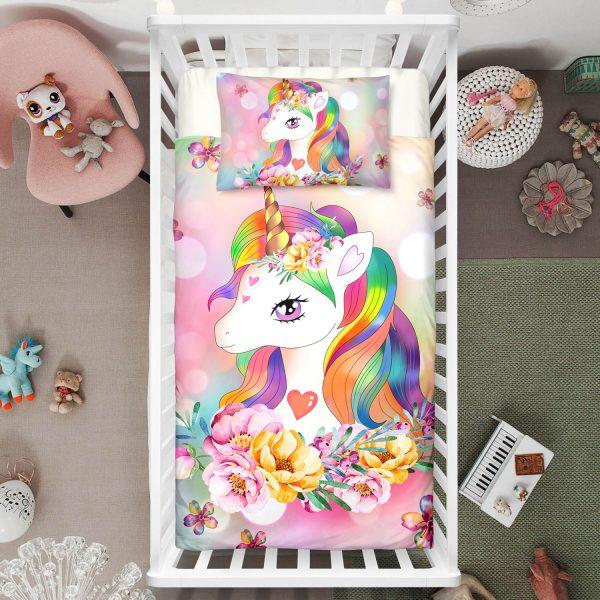 Baby Unicorn Crib Bedding Set
