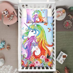 Colorful Unicorn Crib Bedding Set