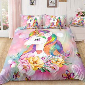 Flowers Majestic Unicorn Bedding Set