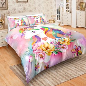 Flowers Majestic Unicorn Bedding Set