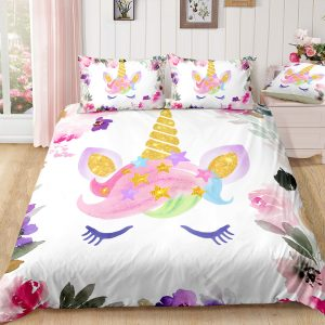 Flowers Unicorn Lash Bedding Set
