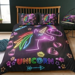 Glowing Unicorn Bedding Set