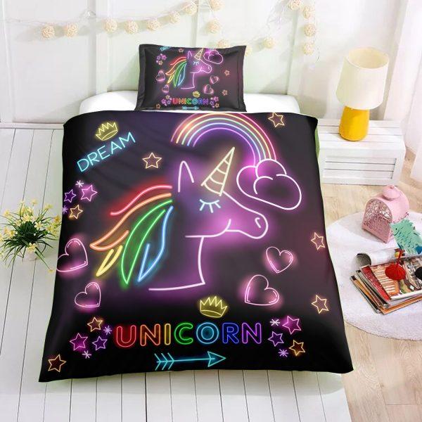 Glowing Unicorn Bedding Set