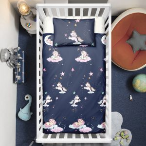 Moon Unicorn Crib Bedding Set