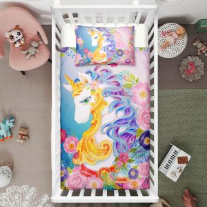 Queen Unicorn Crib Bedding Set
