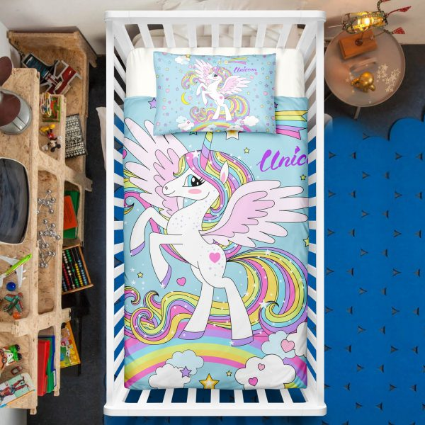 Rainbow Unicorn Crib Bedding Set