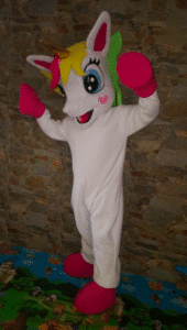 Unicorn Fancy Mascot Costume for adult Halloween party photo review
