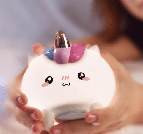 LED Unicorn Silicone Night Light Touch Sensor