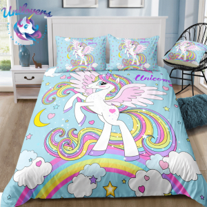 Magical Cloudy Unicorn Bedding Set
