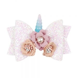 Unicorn Hair Bows For Girl