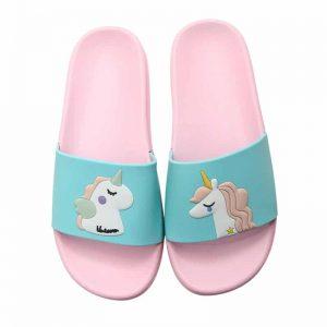 Children Beach Slippers Unicorn Sea Shoe