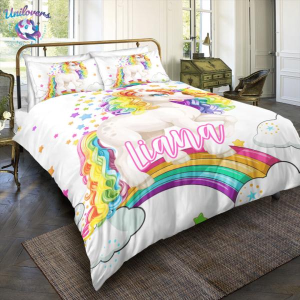 Personalized Baby Unicorn Bedding Set