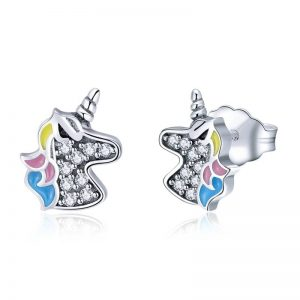 Unicorn Memory Stud Earrings