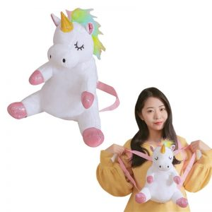 Unicorn Plush Toy Backpack