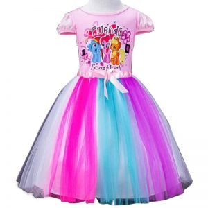 Summer Unicorn Girl Rainbow Dresses