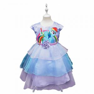 New Unicorn Color Girls Chifon Dress
