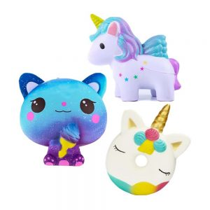 Kawaii Unicorn Donut Squishy Toy