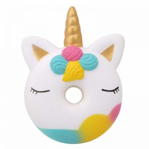 Unicorn Donut Squishy Toy