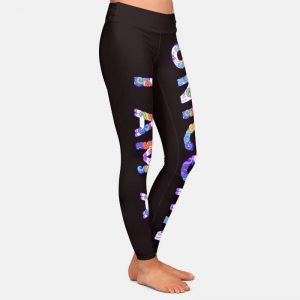 3D Print Unicorn Black Leggings