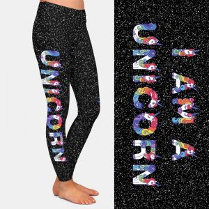 New High Elastic Unicorn Leggings