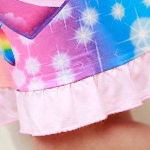 New Unicorn Summer Soft Sleepwear Dress