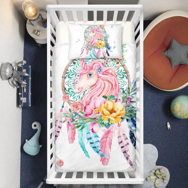 Dreamcatcher Unicorn Crib Bedding Set