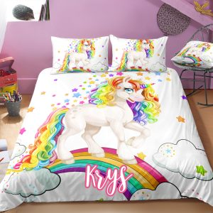 Personalized Baby Unicorn Bedding Set