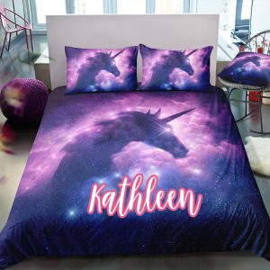 Personalized Galaxy Unicorn Bedding Set
