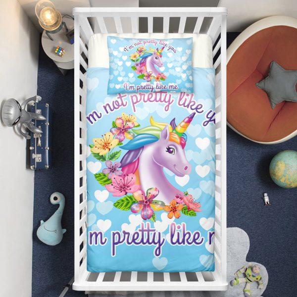 """""""Pretty Like Me"""" Unicorn Crib Bedding Set"""