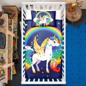 Rainbow Unicorn Crib Bedding Set