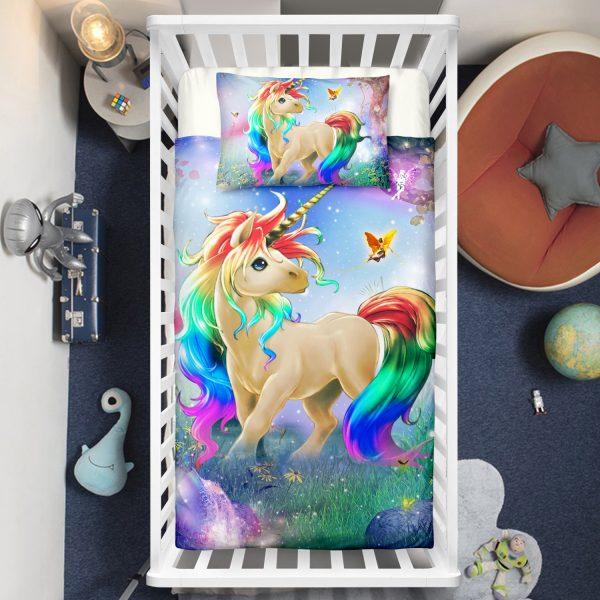 Unicorn In The Wonderland Crib Bedding Set