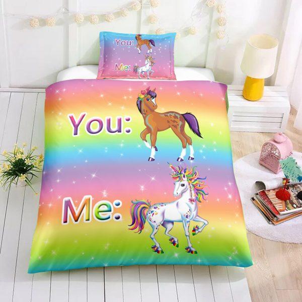 You and Me Unicorn Bedding Set