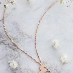 18k Gold Unicorn Necklace