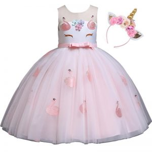 Girls Unicorn Tutu Dress with Headband