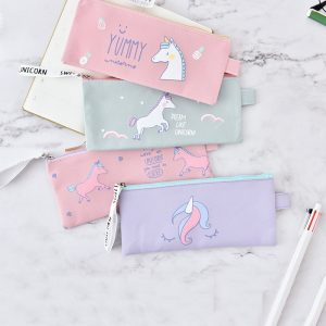 Unicorn Canvas Pencil Case