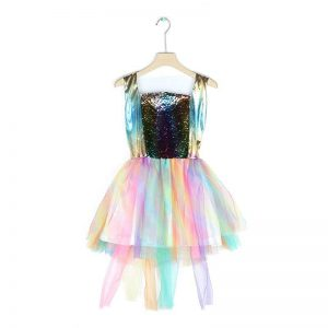 Girls Unicorn Hair Band Wings Tutu Dress