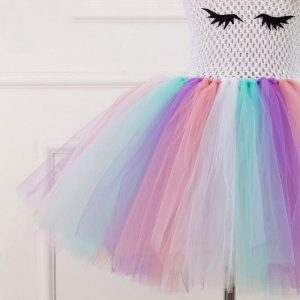 Unicorn Tutu Tulle Dress with Hair Band
