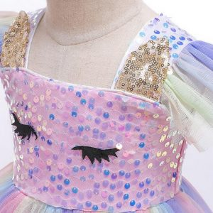 Unicorn Girl Sequined Dress With Headband