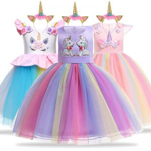 Unicorn Party Dresses For Girls