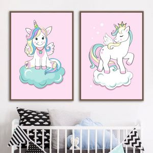 Unicorn Canvas Wall Pictures Decor