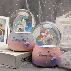 Unicorn Crystal Global Snow Ball