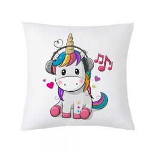 Cute Cartoon Unicorn Cushion Cover