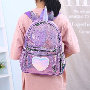Unicorn Horn Sequins Backpack