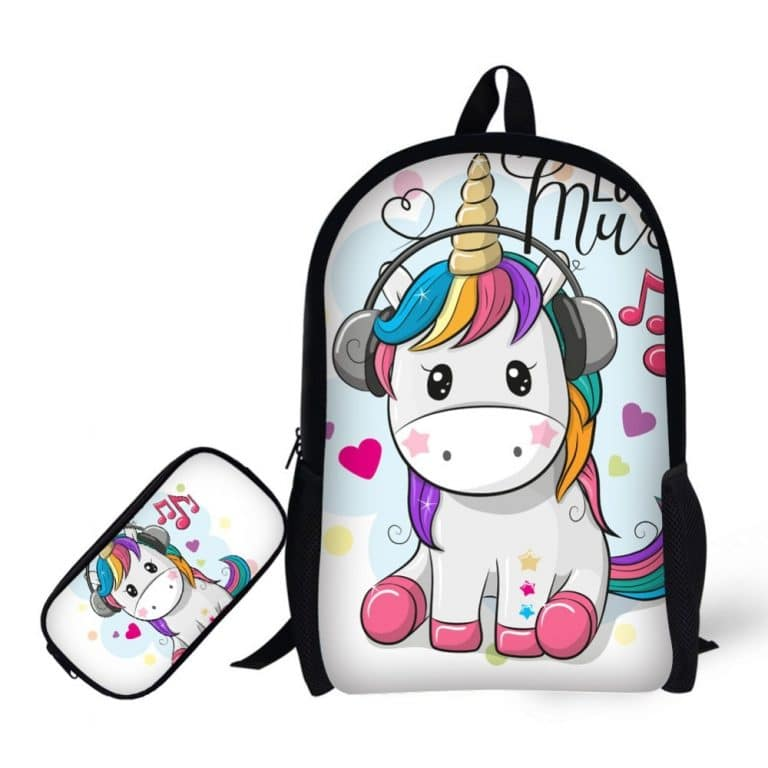 Fashion Unicorn Printing School Backpack