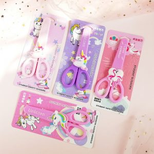 Safety Scissors with Unicorn Protective Cover Cap
