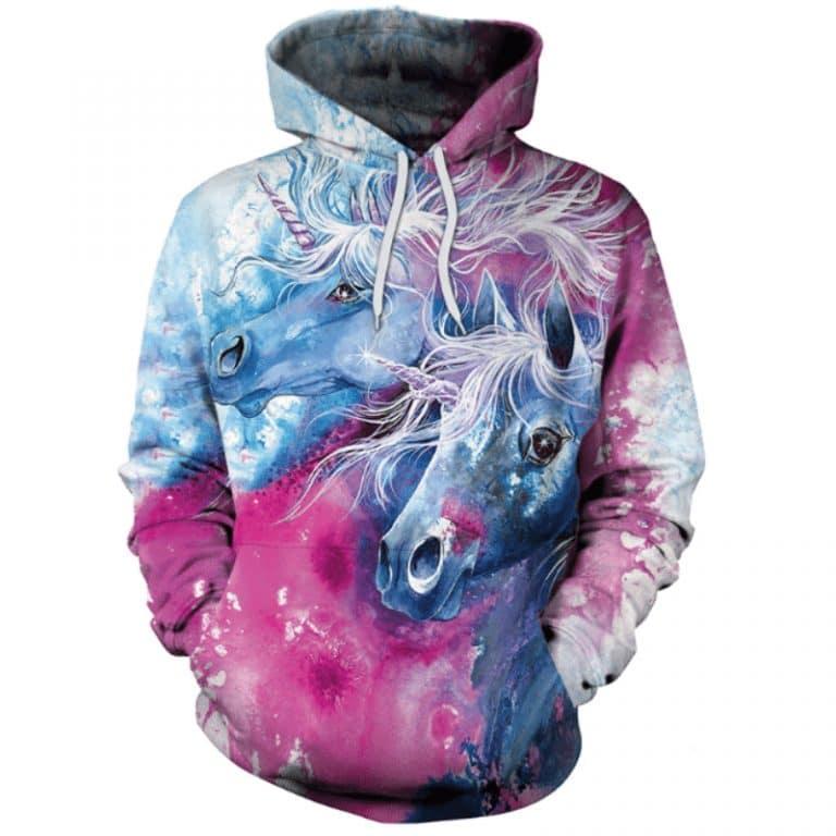 3D Unicorn Hoodies