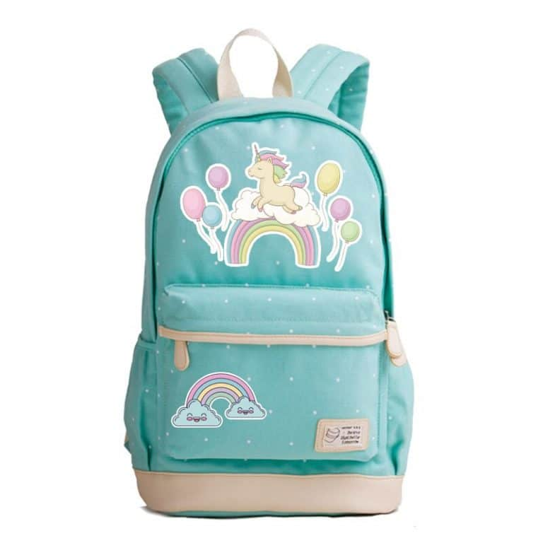 Summer Style Unicorn Printing Canvas Backpack