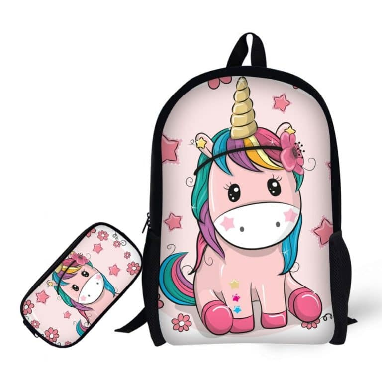Cute Cnicorn Backpacks with Pencil Case