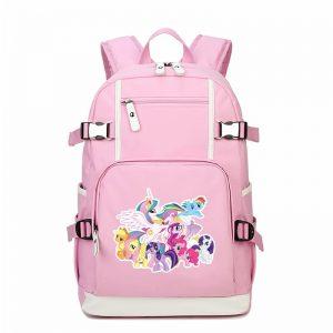 Women Unicorn Pink Canvas Backpack